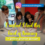 """I Wished I Had this Kind of Training"" ~ a Veteran Volunteer Manager"