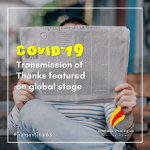 COVID-19 Transmission of Thanks Featured on Global Stage