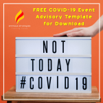 Free COVID-19 Event Advisory Template