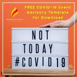 Free COVID-19 Event Advisory Template